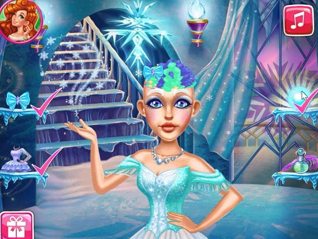 Snow Queen Real Haircuts Online Game Pomu