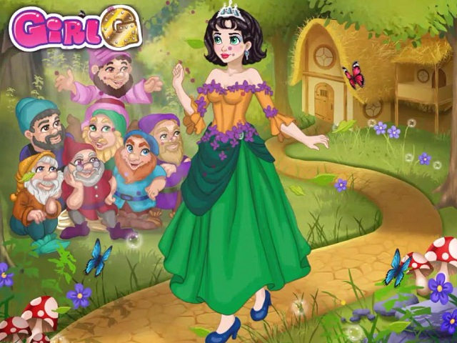 Snow white and the seven dwarfs dress up games online